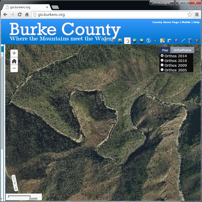 Burke County Gis Online Map Viewer Lgmaps Linville Gorge Maps