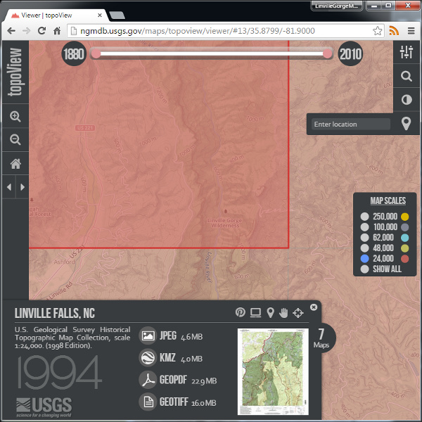 USGS Historical Topographic Map Collection - LGMAPS Linville