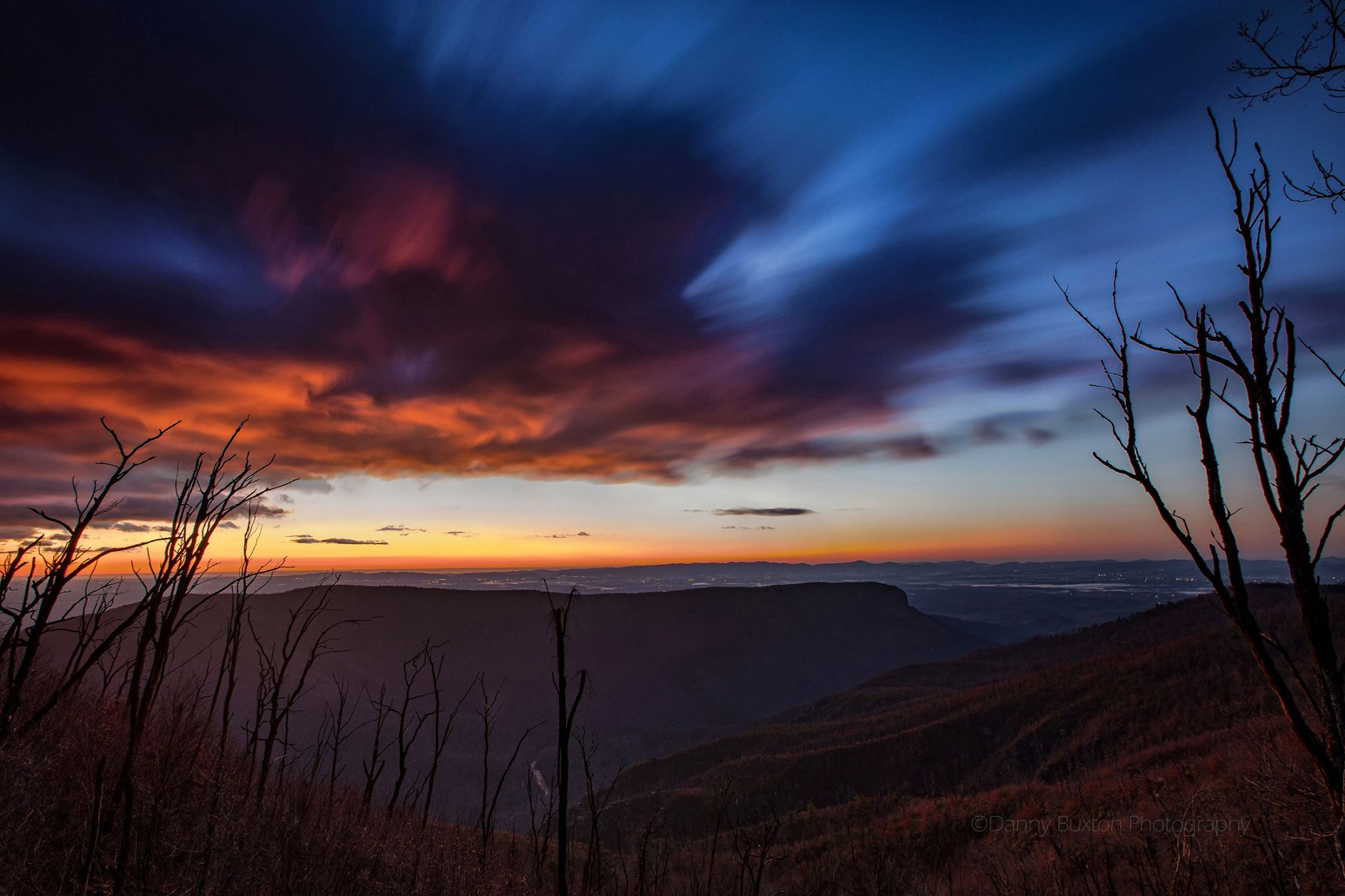 Daybreak from Dogback Mountain, Linville Gorge.  (Photo: Danny Buxton)