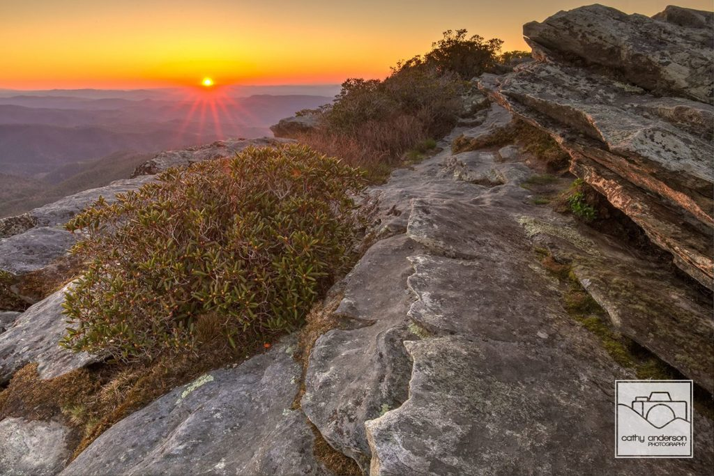 Linville Gorge - Hawksbill Sunrise. (Photo: Cathy Anderson)