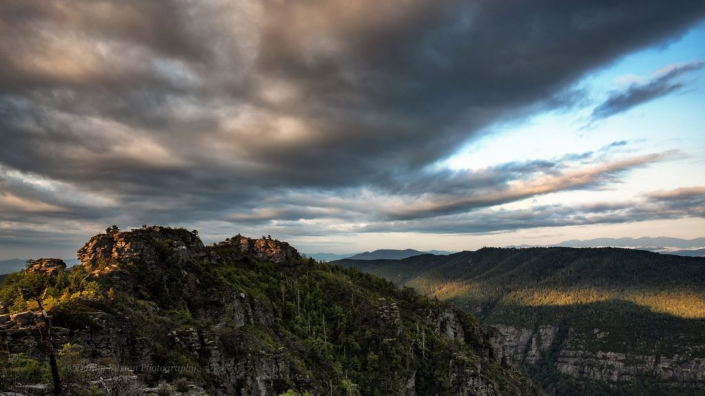 Sunrise at The Chimneys in Linville Gorge. (Photo: Danny Buxton)