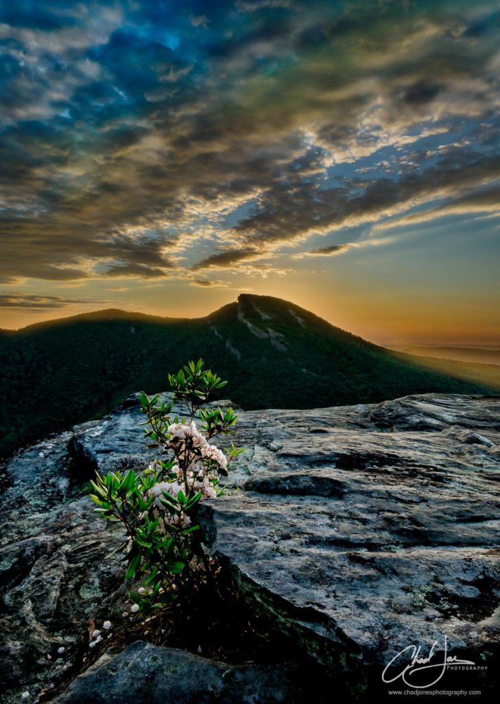Sunrise from Wiseman's View in Linville Gorge. (Photo: Chad Jones)