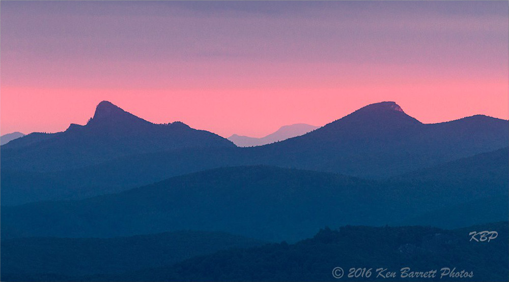 Table Rock and Hawksbill at sunset. (Photo: Ken Barrett)