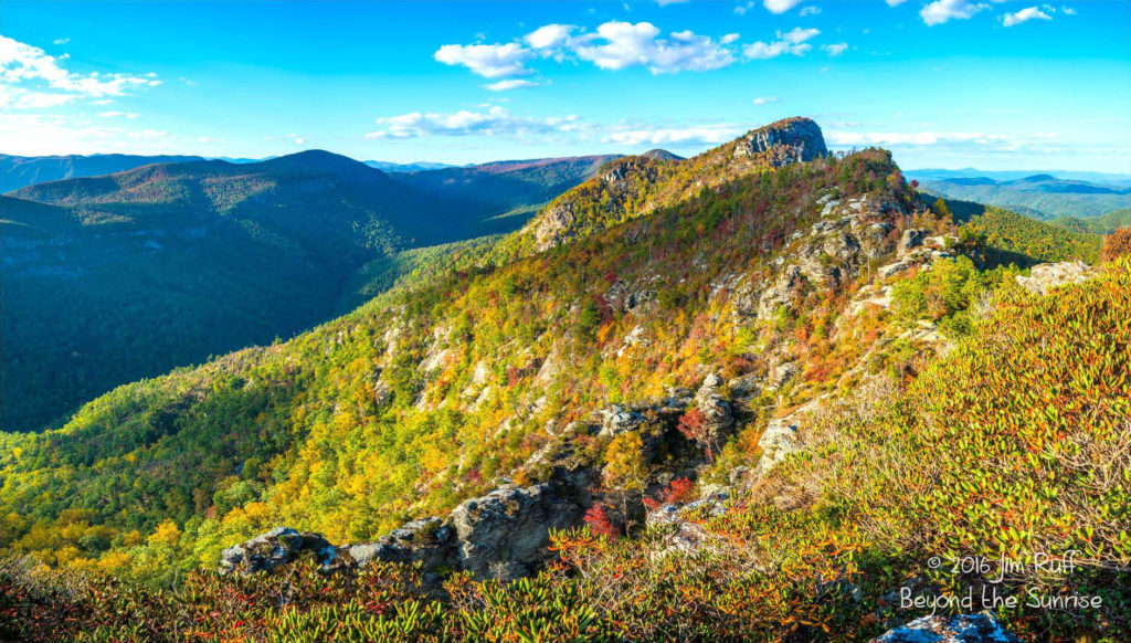 Fall colors on Table Rock in Linville Gorge. (Photo: Jim Ruff)