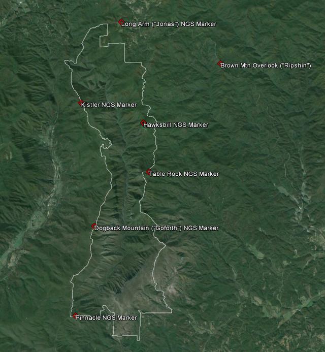 Linville Gorge Map Maps   LGMAPS Linville Gorge Maps Linville Gorge Map